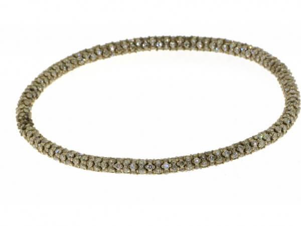 Armband Gelbgold braune Brillanten