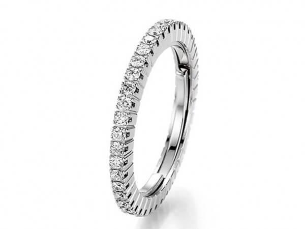New Memoire Ring 2C dehnbar aus Weißgold