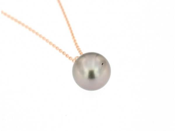 Collier Roségold Tahiti Perle 11-12 mm
