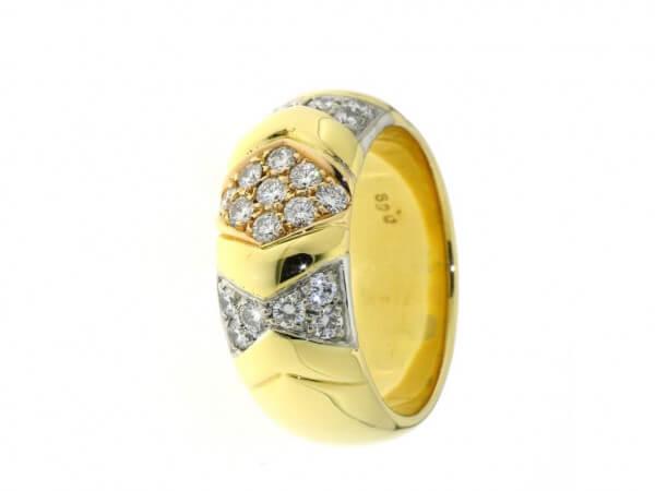 Ring 750 Gelb und Weißgold mit Brillant