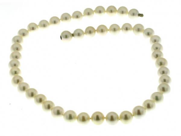 Akoya Perlkette weiß 8,5- 9 mm