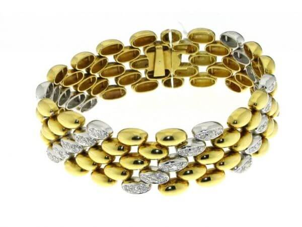Armband Gelb/Weißgold mit Brillanten