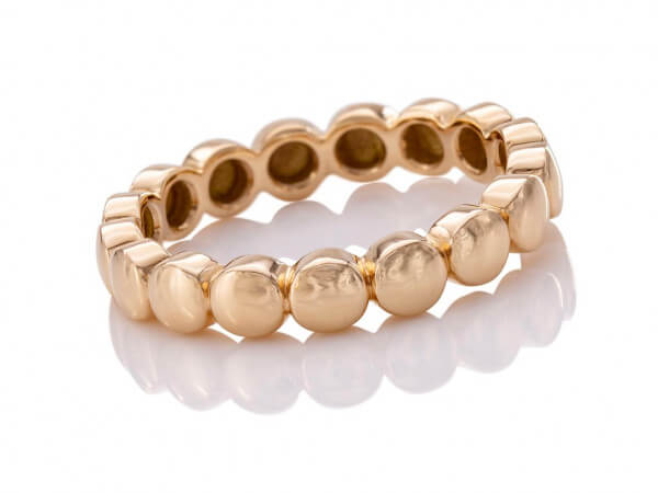 "Twentyten Ring ""Button"" aus Roségold"