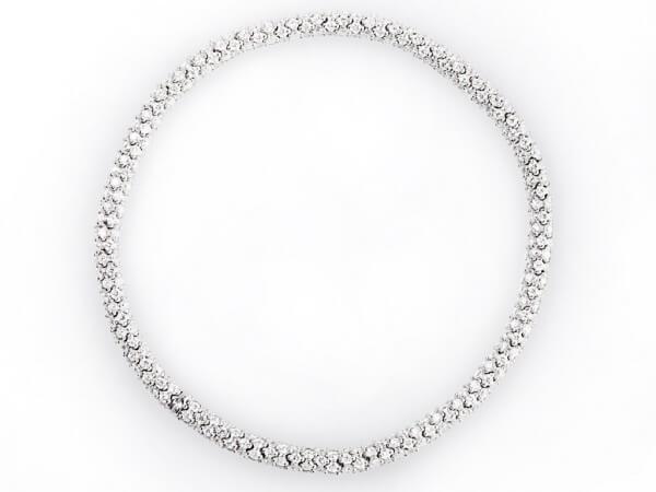 Armband elastisch Weißgold mit Diamanten