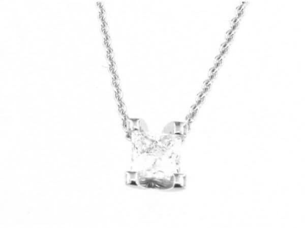Collier Weißgold mit Princess Diamant