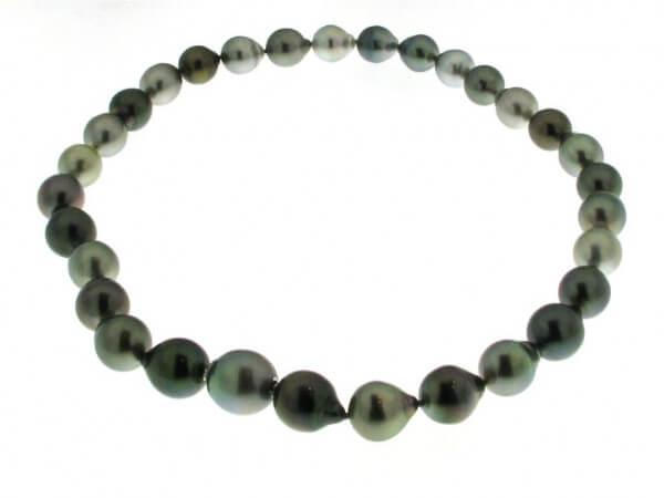 Tahiti Perlkette 10-13,2 mm,Patentschloß