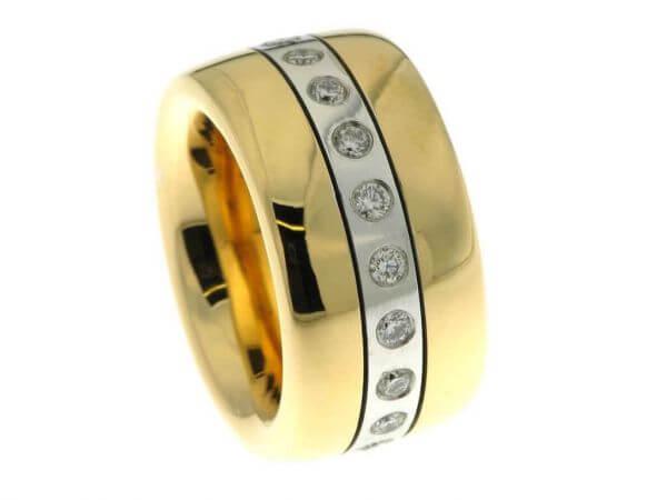 Ring 750 Rosé/Weißgold mit Brillanten