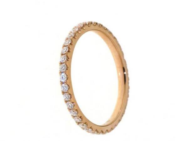 Memoire Ring aus Roségold 32 Brillanten