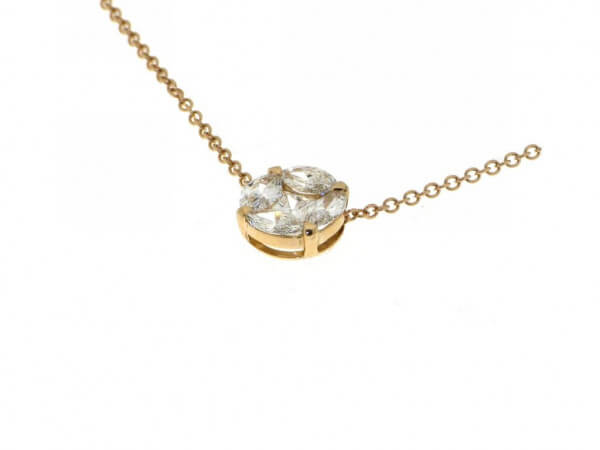 Collier 750 Roségold mit Diamanten
