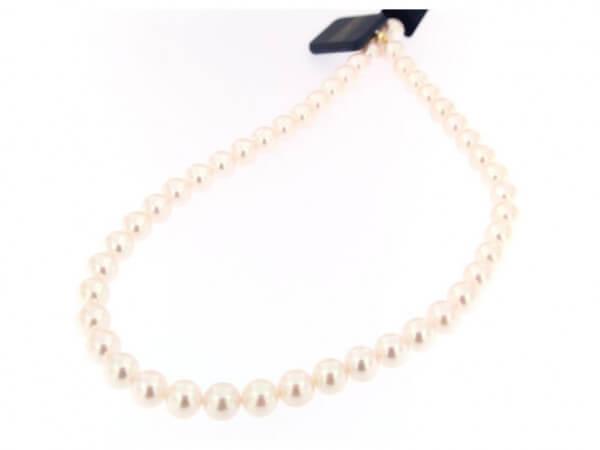 Akoya Perlkette weiß - rosé 8,5 -9 mm