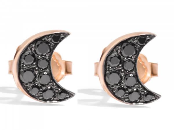 Dodo Ohrstecker Mond (Paar) Diamanten