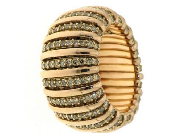 Ring 750 Roségold flexibel Brillanten br