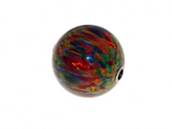 Synthetische Opalkugel mit Stahlschließe