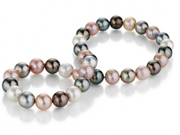 Collier Tahiti und Süßwasser Perlen