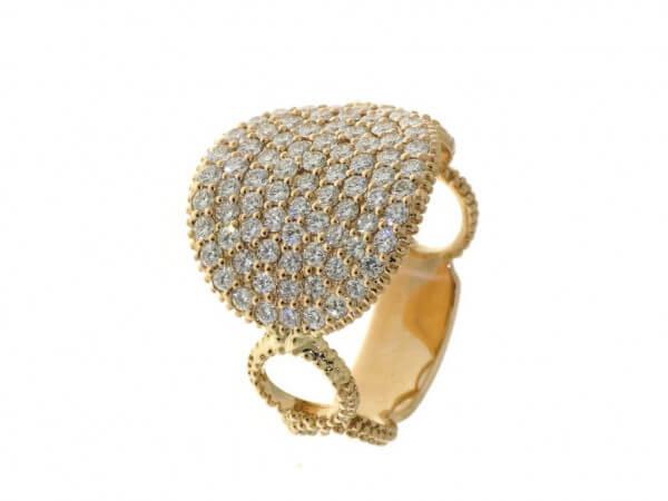 Ring aus Roségold mit Brillanten 1,21 ct