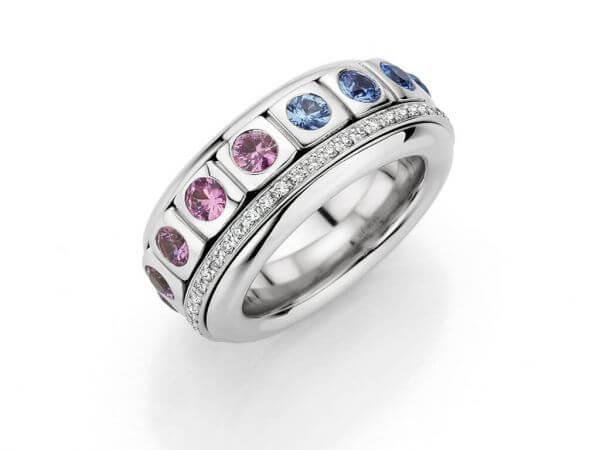"""Ring """"Little Tango"""" Safire und Brillant"""