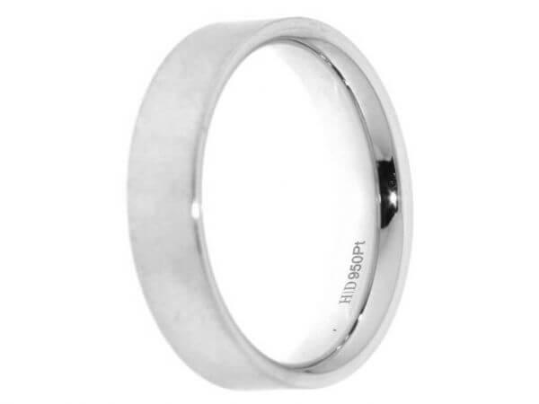 Vonhofen Trauring Platin 5 mm kreismatt