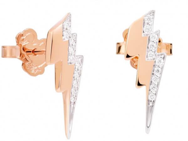 Dodo Ohrring Blitz mit weißen Diamanten