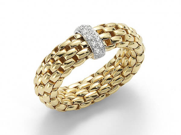 Fope Flexit Vendome Ring aus Gelbgold