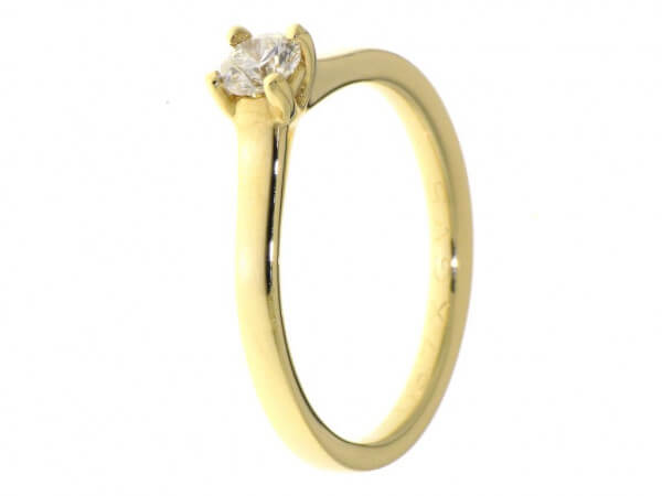 Solitär Ring aus Gelbgold Brillant 0,26