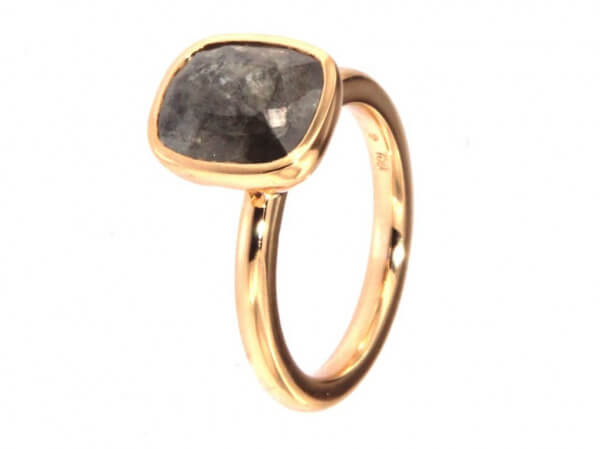 Twentyten Ring Diamant Rose in grau