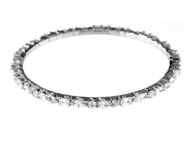 Elastisches Tennisarmband mit Diamanten