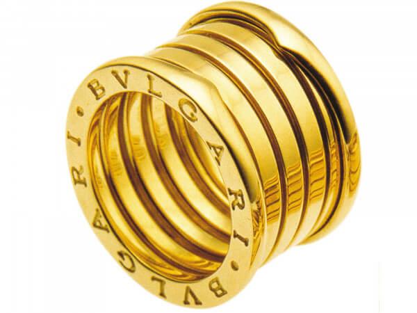 Bulgari Bzero1 Ring 5 Bänder Gelbgold