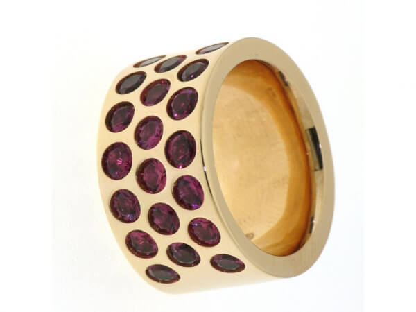 Ring 750 Roségold mit rosa Turmalin