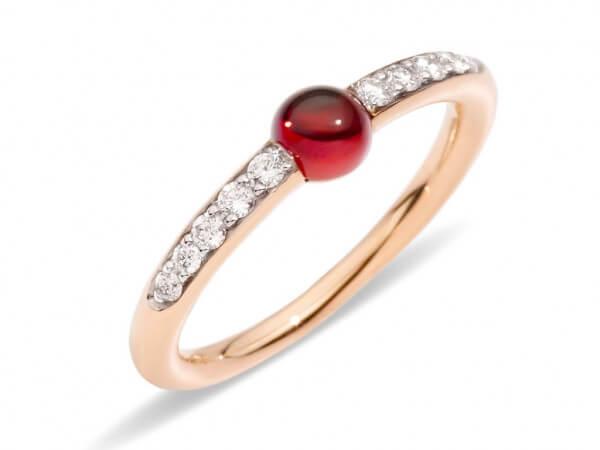 Pomellato m`ama non m`ama Ring Granat