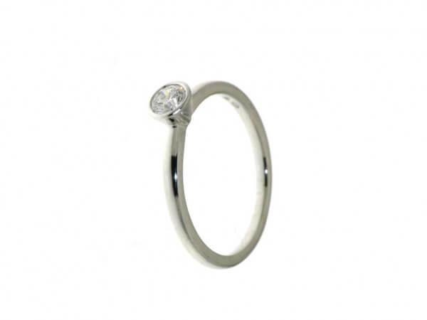 Solitär Ring Weißgold 1 Brillant 0,25 ct