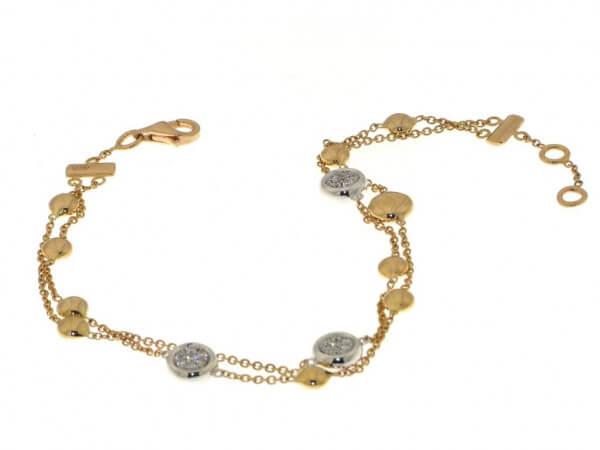 Armband Rosé und Weißgold mit Diamanten