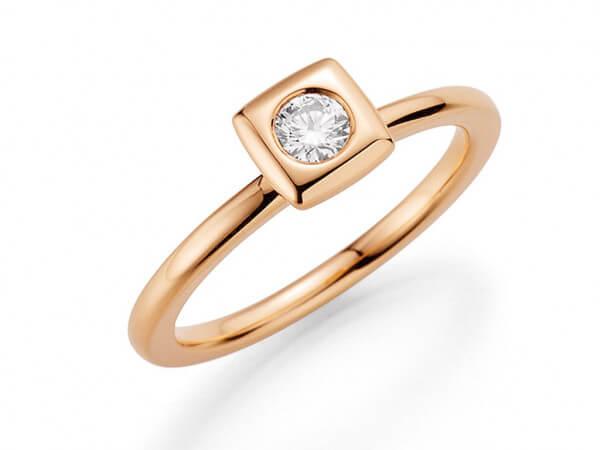 """Ring """"Mila"""" aus Roségold mit Brillant"""