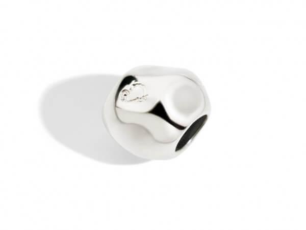 Dodo Schnur Stopper Silber mit Silikon