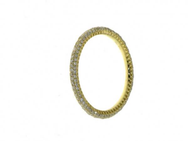 Ring Gelbgold mit micro pavée 0,55 ct