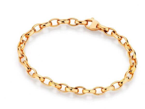 Armband aus Roségold 19cm poliert