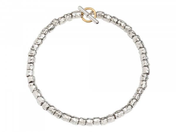 Armband Kit aus Silber mit Körnern