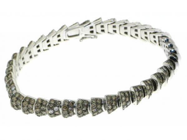 Armband  braune und weiße Brillanten