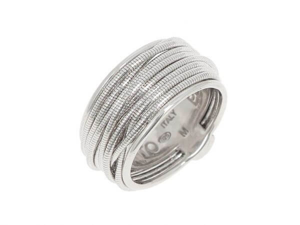 Pesavento DNA Ring Silber poliert breit