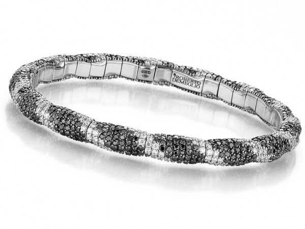 Armband dehnbar aus Weißgold,Brillanten