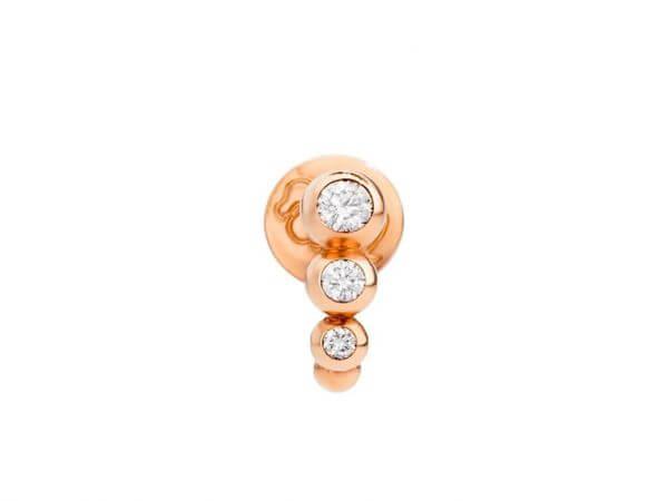 Dodo Ohrring Bollicine Diamanten 1 Stück