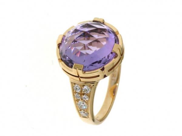 Bulgari Parentesi Cocktail Ring Amethyst