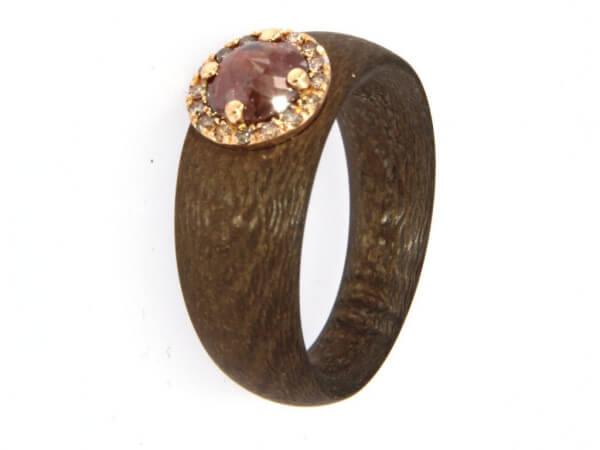 Ring Broncetex mit Roségold und Diamant