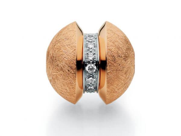 Patentschloß Mystery Roségold Diamant