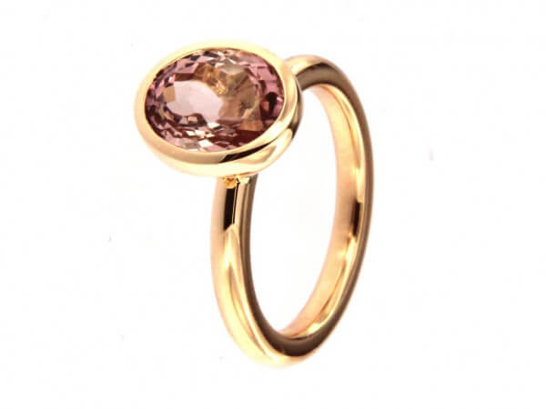 Twentyten Ring mit rosa Turmalin