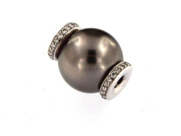 Wechselschließe 13 mm Perle und Brillant