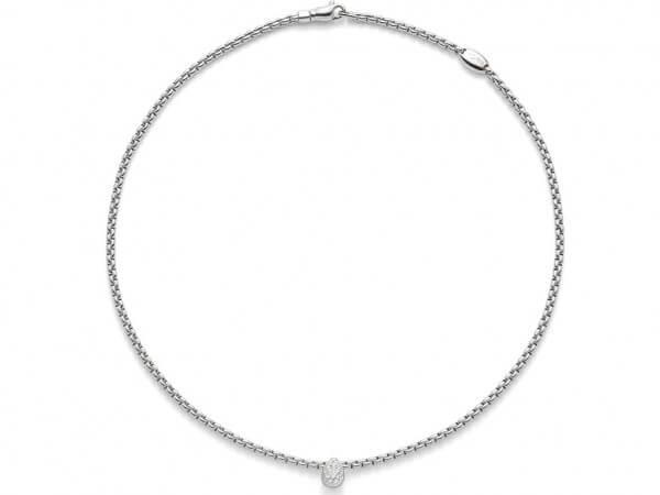 Fope Eka Tiny Halskette aus Weißgold