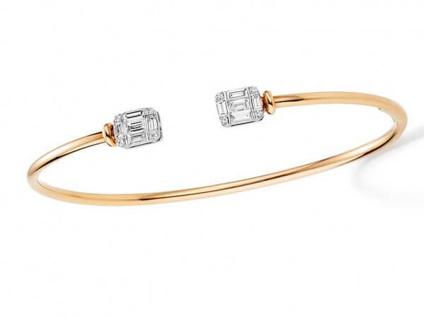 Armspange aus Roségold mit Diamanten