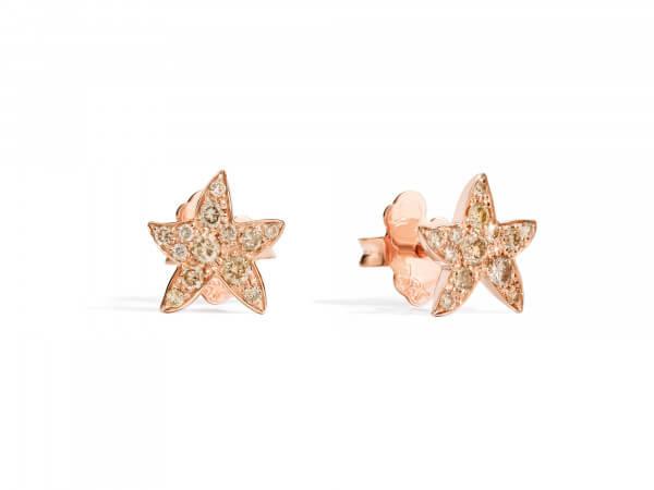 Dodo Ohrringe Seesterne mit Diamanten