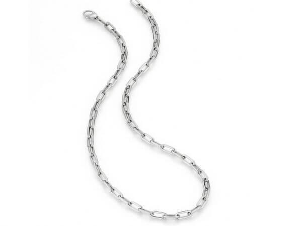 Collier aus Weißgold 45 cm poliert