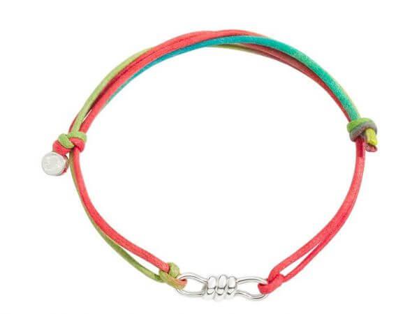 Armband Nodo regenbogenfarbige Kordel